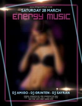 Energy Music Event PSD Flyer Template