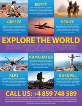Holiday Travel Business PSD Flyer Template