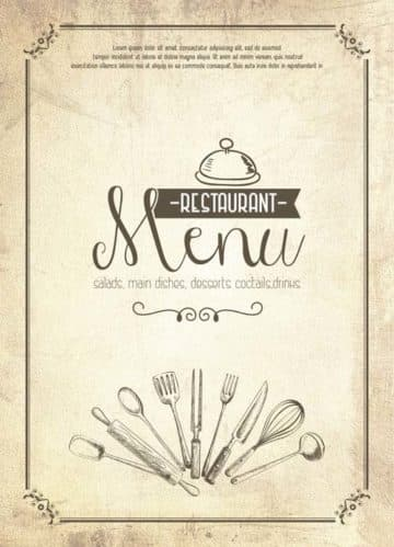 Vintage Restaurant Menu PSD Flyer Template