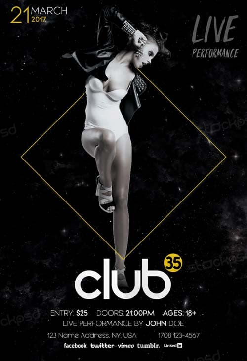 Download the best Free Club Flyer PSD Templates for Photoshop