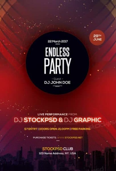 Endless Party Night Free Flyer Template