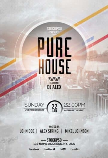 Pure House Free Flyer Template