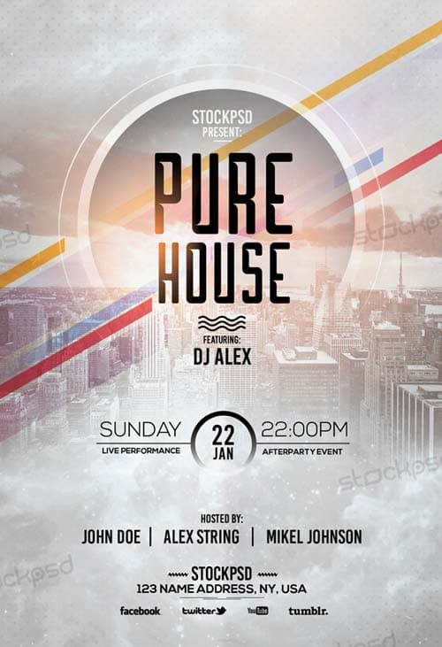 FreePSDFlyer | Pure House Free Flyer Template - Download Free Flyer ...