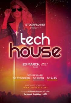Tech House Party Free Flyer Template