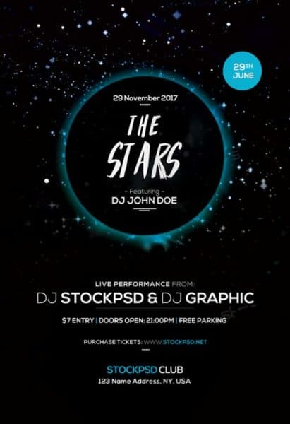 Star Beats Free Flyer Template