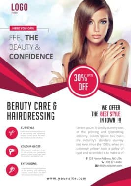 Beauty Care Free PSD Flyer Template