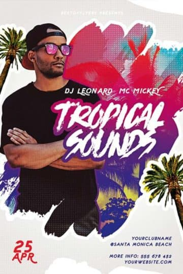 Tropical Sounds Free Flyer Template