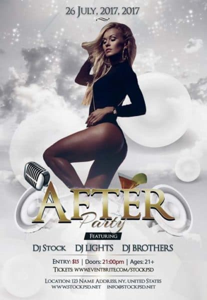 After Party Free PSD Flyer Template