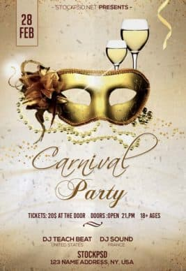 Carnival Party Free PSD Flyer Template