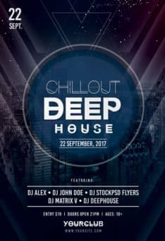 Chillout Deep House Free PSD Flyer Template