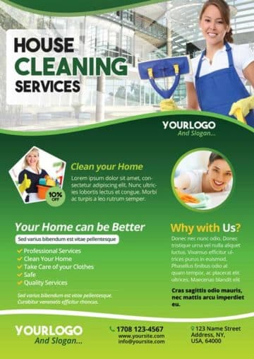 Cleaning Service Free PSD Flyer Template