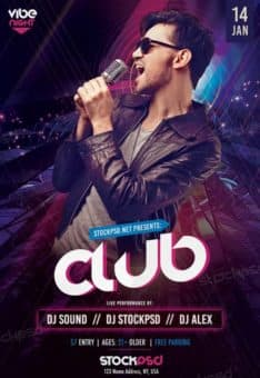 Club Vibe Night Free PSD Flyer Template