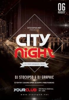City Night Free PSD Flyer Template