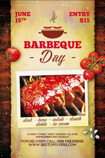 BBQ Day Free Poster Template