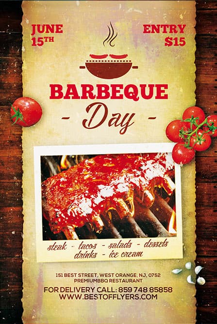 Download The Bbq Day Free Poster Template For Photoshop