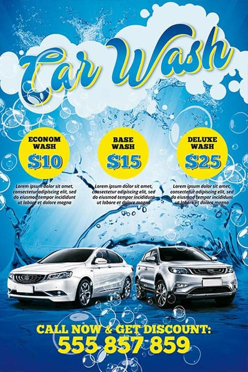 Car Wash Poster Psd