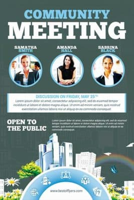 Community Meeting Free Flyer Template