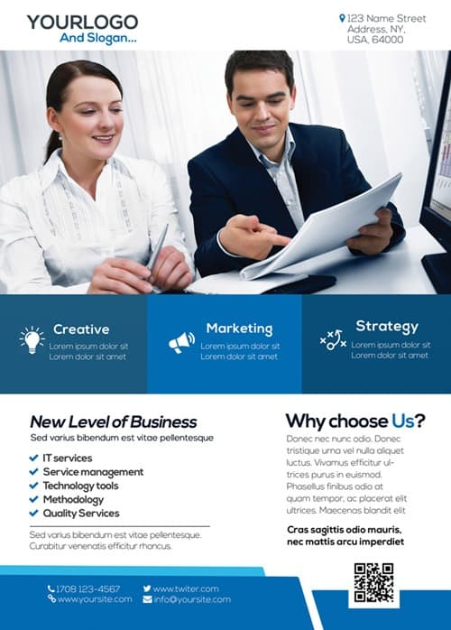 Freepsdflyer  Download The Free Corporate Business Flyer Psd