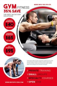 Amazing Workout Flyer Template  Free Fitness Flyer Templates
