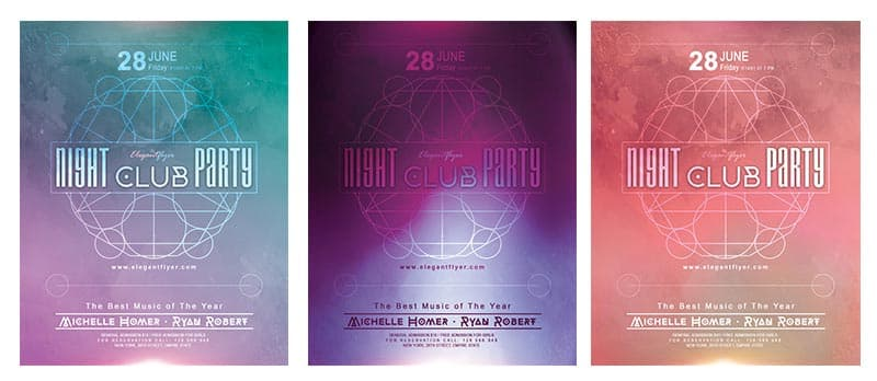 Night Club Party Free Flyer Template