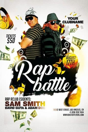 Rap Battle Free Hip Hop Flyer Template