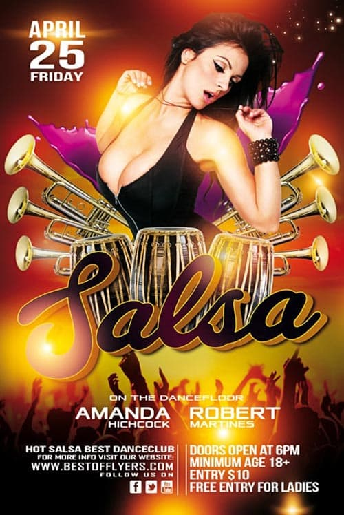 Download The Salsa Party Free Flyer Template For Salsa