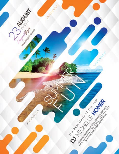 Summer Fun Free Flyer Template