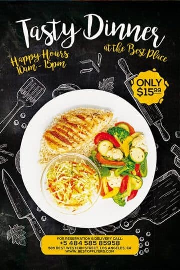 Free Restaurant Poster Template