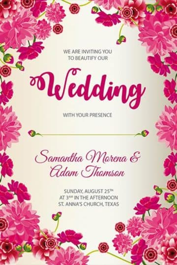 Wedding Free Poster Template