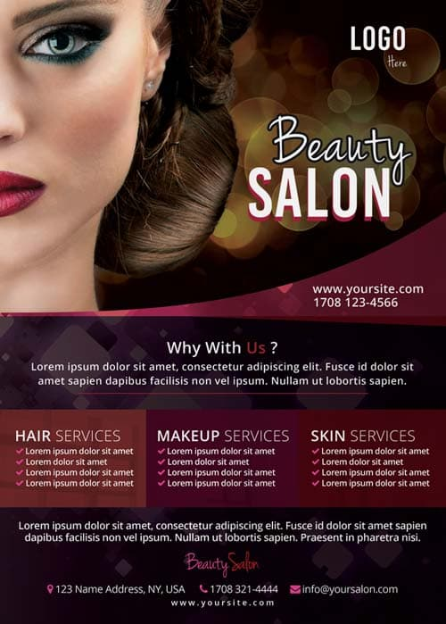 Freepsdflyer  Download The Free Beauty Salon Flyer Template For