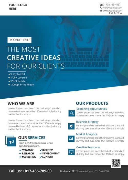 business flyer psd
