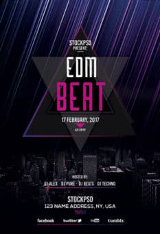 EDM Beats Free Party Flyer Template