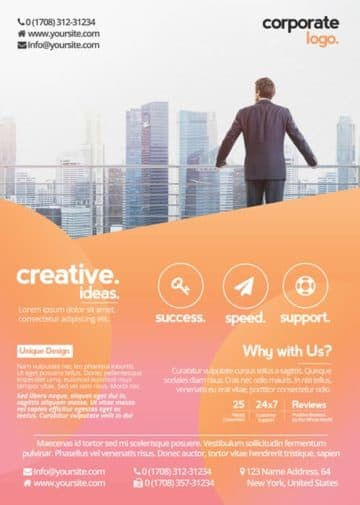 Free Health Business Flyer PSD Template