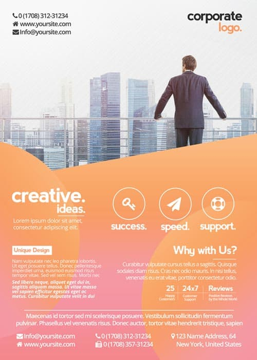 Préférence Download the best Free Corporate Flyer PSD Flyer Templates KS13