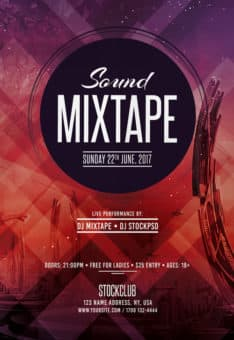 Sound Mixtape Free Flyer Template