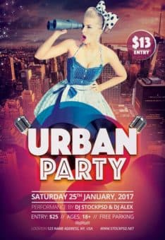 Free Urban Party Flyer Template