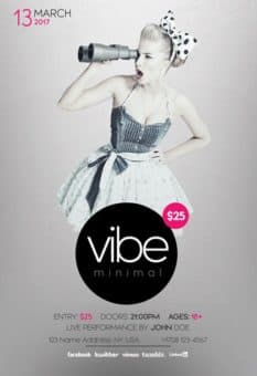 Minimal Vibe Free Party Flyer Template