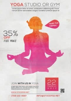 Free Yoga Studio Flyer Template