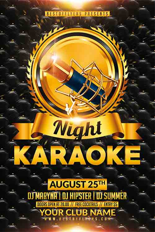 Karaoke Night Free Flyer Template