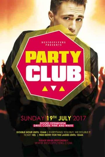 Club Party Free Flyer Template