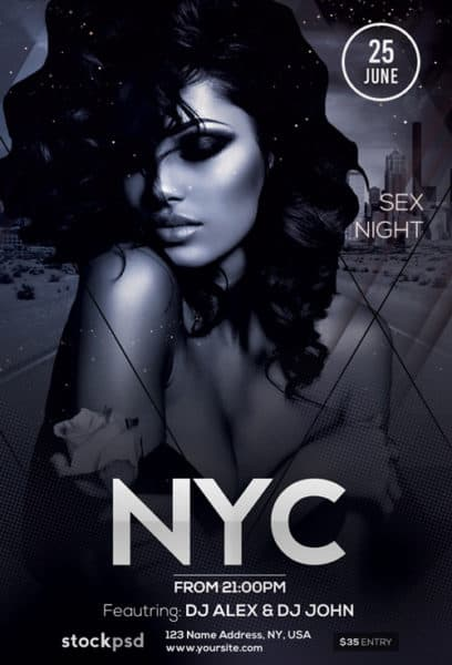 Elegant NYC Free Party Flyer Template
