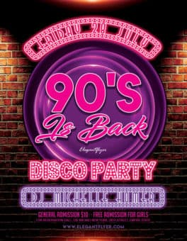 90's Party Free Flyer Template