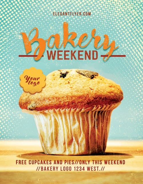 Bakery Weekend Free Flyer Template Download Free Flyer Designs - Bakery brochure template