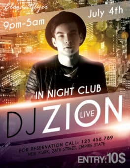 DJ Zion Free Flyer Template