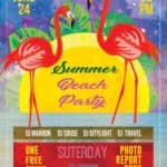 Summer Free Beach Party Flyer Template