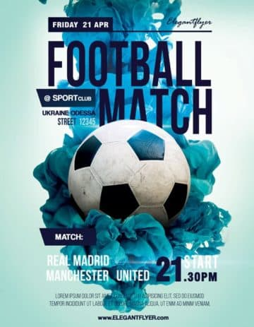 Soccer Match Free Sport Flyer Template