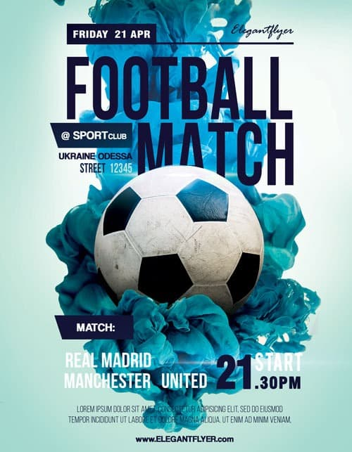 Sports Flyer Template | Soccer Match Free Sport Flyer Template Download Flyer Designs