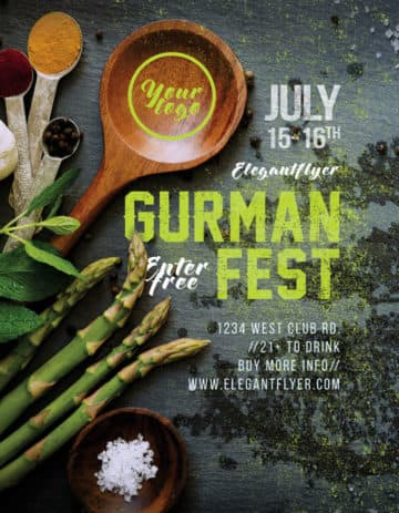 Gourmet Festival Free Flyer Template