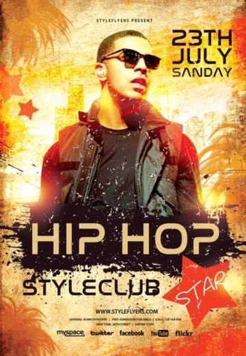 Hip Hop Star Free Flyer Template