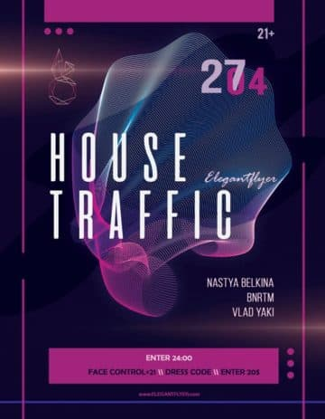House Music Party Free Flyer Template